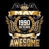 May 1990 28 Years Of Being Awesome - Men's Premium T-Shirt