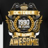 October 1990 28 Years Of Being Awesome - Men's Premium T-Shirt