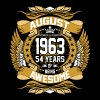August 1963 54 Years Of Being Awesome - Men's Premium T-Shirt