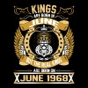 The Real Kings Are Born On June 1968 - Men's Premium T-Shirt