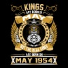 The Real Kings Are Born On May 1954 - Men's Premium T-Shirt