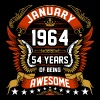 January 1964 54 Years Of Being Awesome - Men's Premium T-Shirt