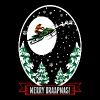 Merry Braapmas Christmas Santa Snowmobile Sweater - Men's Premium T-Shirt