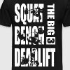 Powerlifting - Big 3 - Squat, Bench, Deadlift - Men's Premium T-Shirt