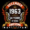 December 1963 54 Years Of Being Awesome - Men's Premium T-Shirt