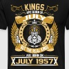 The Real Kings Are Born On July 1957 - Men's Premium T-Shirt