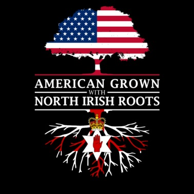 American Grown with Irish Roots Northern Ireland Design - Men's Premium T-Shirt