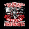Firefighter Niece Support Proud Family Uncle Aunt - Men's Premium T-Shirt