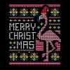 Flamingo Ugly Christmas Sweater Humor Fun - Men's Premium T-Shirt