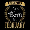 Legend Are Born In February - Men's Premium T-Shirt