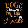 Distressed - Dogs leave paw prints on your hearts - Men's Premium T-Shirt