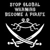 stop global warming and become a pirate FSM white - Men's Premium T-Shirt