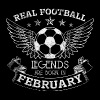 REAL FOOTBALL LEGENDS BORN IN FEBRUARY - Men's Premium T-Shirt
