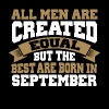 Men are Created Equal best are born in September - Men's Premium T-Shirt