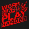 Work Hard Play Harder - Men's Premium T-Shirt
