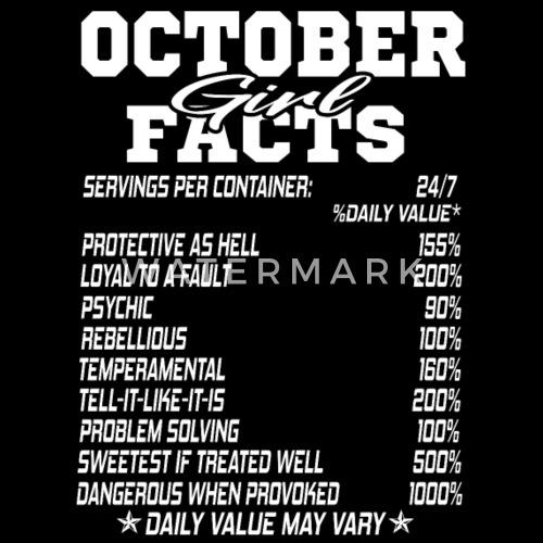 October Born Girl Funny Birthmonth Fact Quotes Mens Premium T Shirt