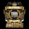 April 1986 32 Years Of Being Awesome - Men's Premium T-Shirt