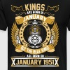 The Real Kings Are Born On January 1951 - Men's Premium T-Shirt