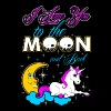 I Love You To The Moon And Back Unicorn - Men's Premium T-Shirt