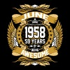 June 1958 59 Years Of Being Awesome - Men's Premium T-Shirt