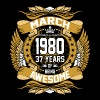 March 1980 37 Years Of Being Awesome - Men's Premium T-Shirt