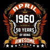 April 1960 58 Years Of Being Awesome - Men's Premium T-Shirt