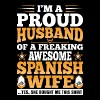 Im A Proud Husband Of Awesome Spanish Wife - Men's Premium T-Shirt