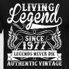 Living Legend Since 1977 Legends Never Die - Men's Premium T-Shirt