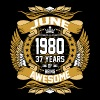 June 1980 37 Years Of Being Awesome - Men's Premium T-Shirt