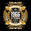August 1966 51 Years Of Being Awesome - Men's Premium T-Shirt