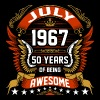 July 1967 50 Years Of Being Awesome - Men's Premium T-Shirt