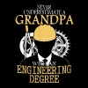 A grandpa with an engineering degree Engineer - Men's Premium T-Shirt