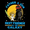 Father and Son Best Friend in the Galaxy - Men's Premium T-Shirt