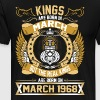 The Real Kings Are Born On March 1968 - Men's Premium T-Shirt