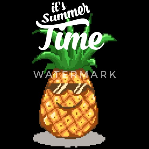 Happy Summer Pineapple Pixel Art By Spreadshirt