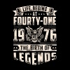 Life Begins at Fourty-One Legends 1976 for 2017 - Men's Premium T-Shirt