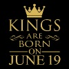 Kings are born on June 19 - Men's Premium T-Shirt