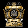 January 1988 30 Years Of Being Awesome - Men's Premium T-Shirt