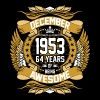 December 1953 64 Years Of Being Awesome - Men's Premium T-Shirt