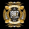 August 1987 30 Years Of Being Awesome - Men's Premium T-Shirt