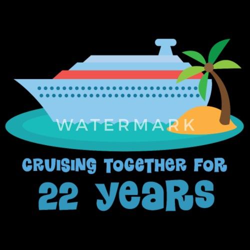 22nd anniversary cruise gift by homewiseshopper spreadshirt