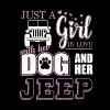Just a Girl In Love With Her Dog and Her Jeep - Men's Premium T-Shirt