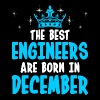 The Best Engineers Are Born In December - Men's Premium T-Shirt