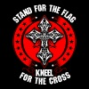 Stand For The Flag Kneel For The Cross Albanian - Men's Premium T-Shirt