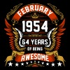 February 1954 64 Years Of Being Awesome - Men's Premium T-Shirt