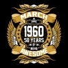 Mar 1960 58 Years Awesome - Men's Premium T-Shirt