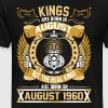 The Real Kings Are Born On August 1960 - Men's Premium T-Shirt