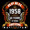 April 1958 60 Years Of Being Awesome - Men's Premium T-Shirt