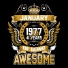 January 1977 41 Years Of Being Awesome - Men's Premium T-Shirt