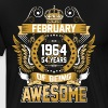 February 1964 54 Years Of Being Awesome - Men's Premium T-Shirt